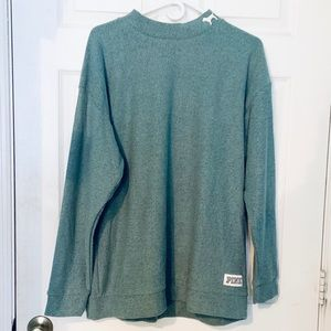 Mock Neck Teal PINK Sweater